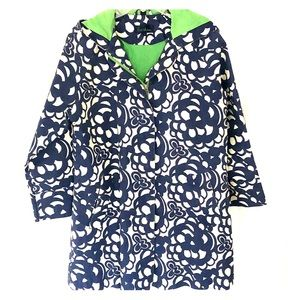 Boden Blue and White Rain Jacket